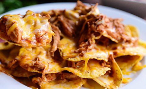 Super Bowl Chicken nachos
